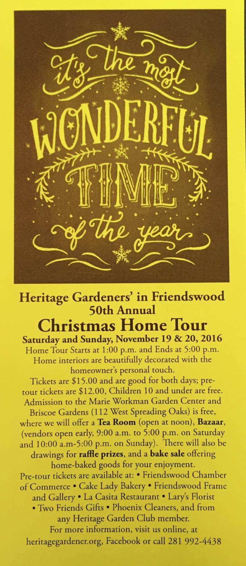 Christmas Home tour flyer mini