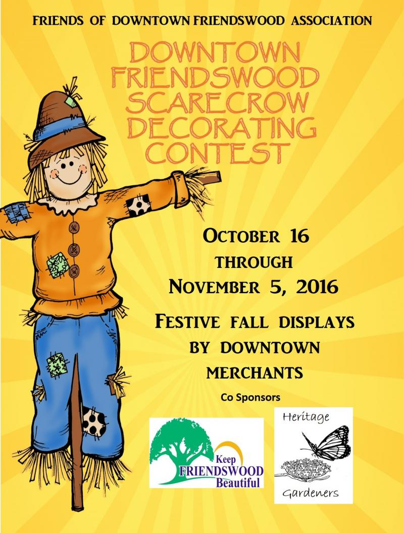 Friendswood Downtown Scarecrow Decorating Contest